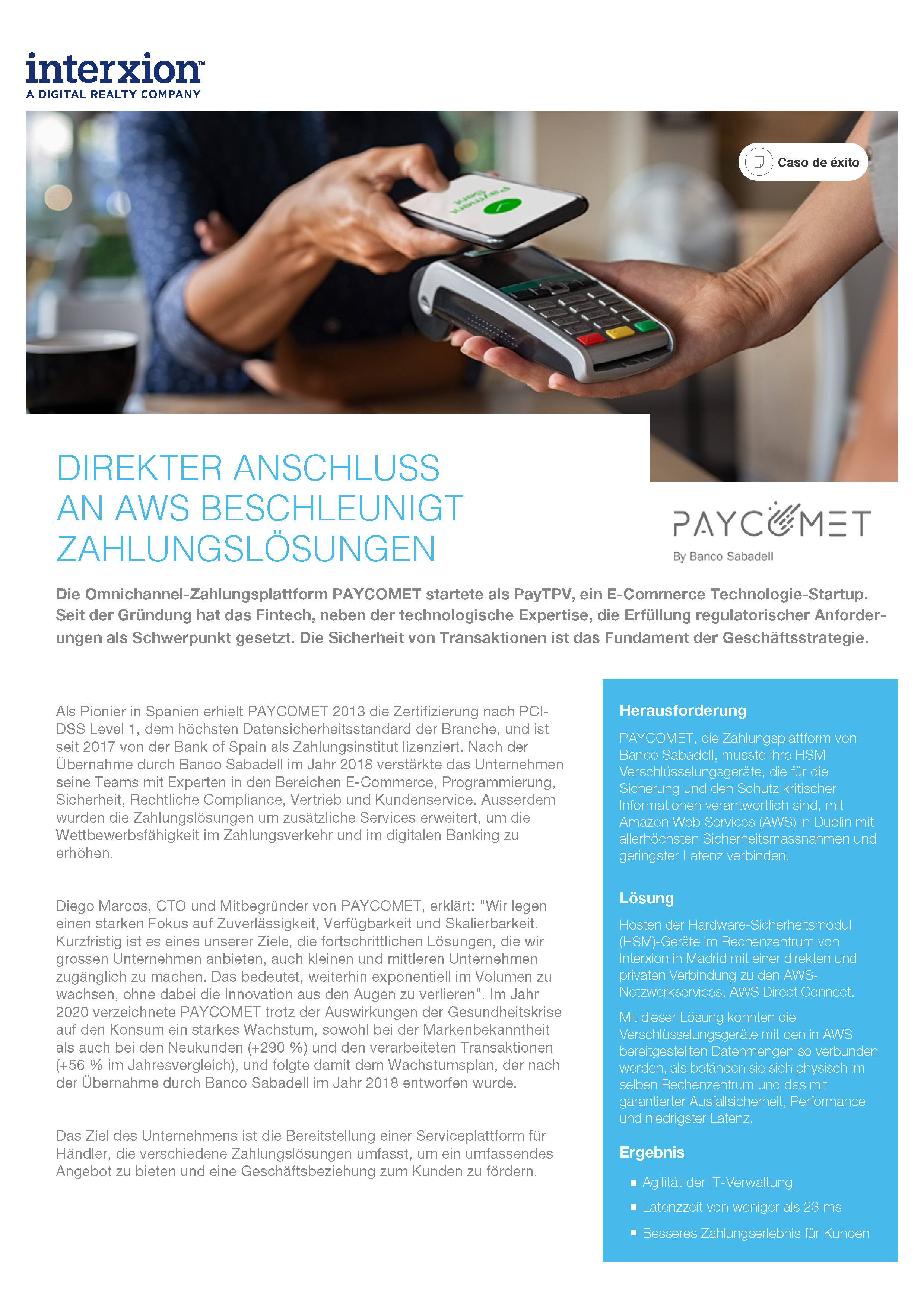 Case Study Paycomet Cover