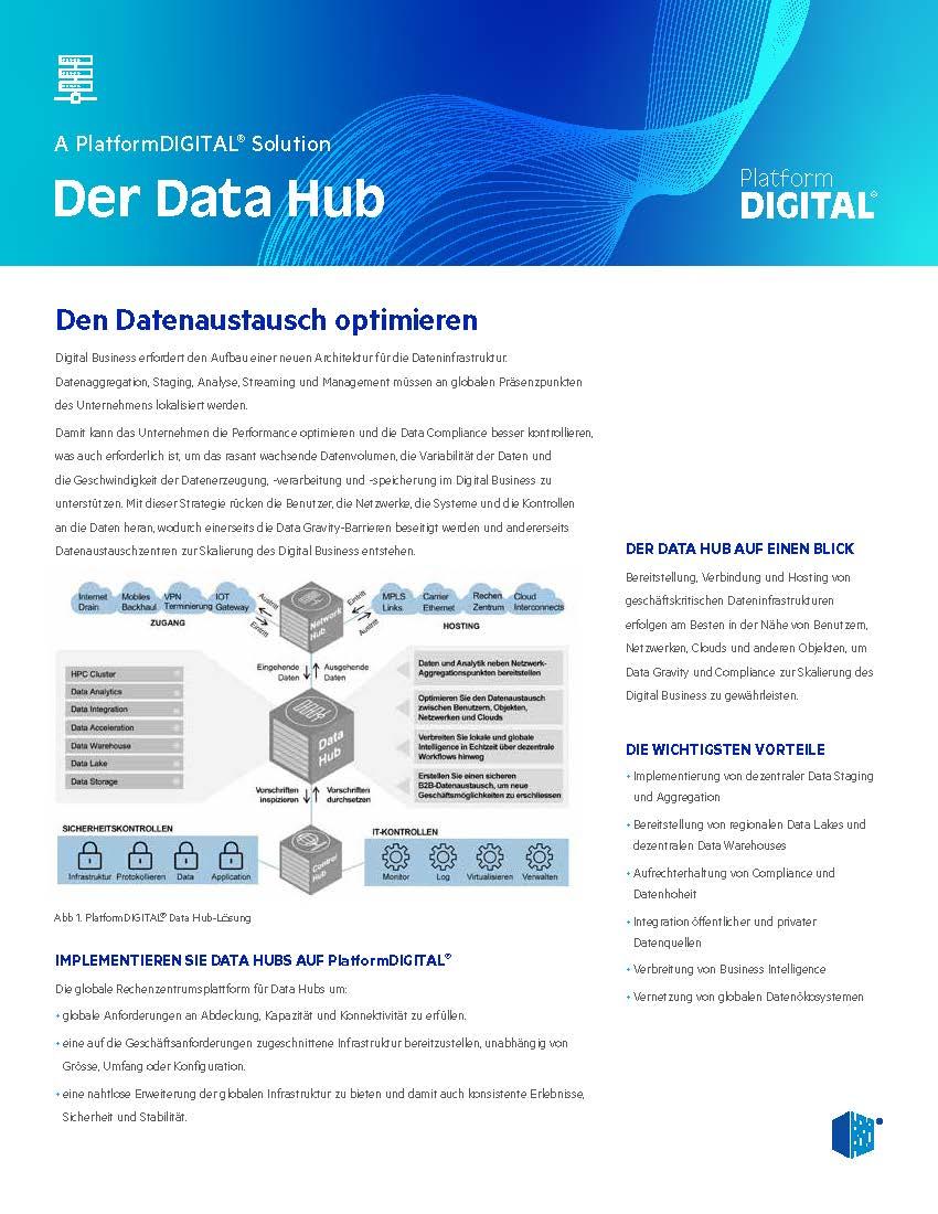 Data Hub Datenblatt Schweiz