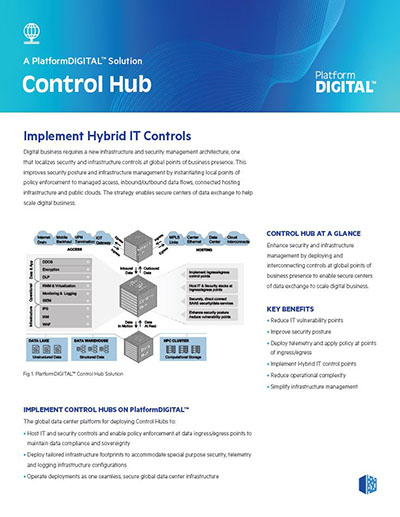 Control Hub Datenblatt Cover