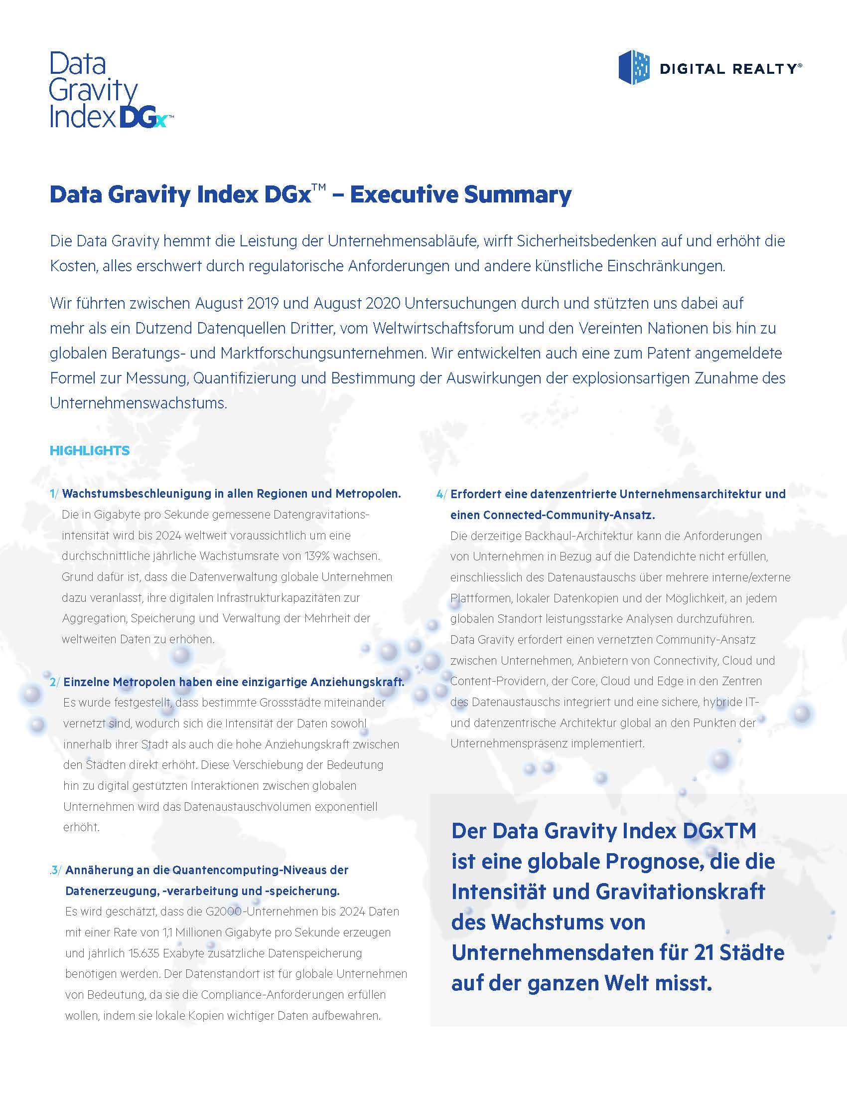 DGx Executive Summary Schweiz