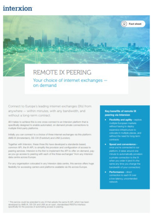 internet exchange remote peering cover