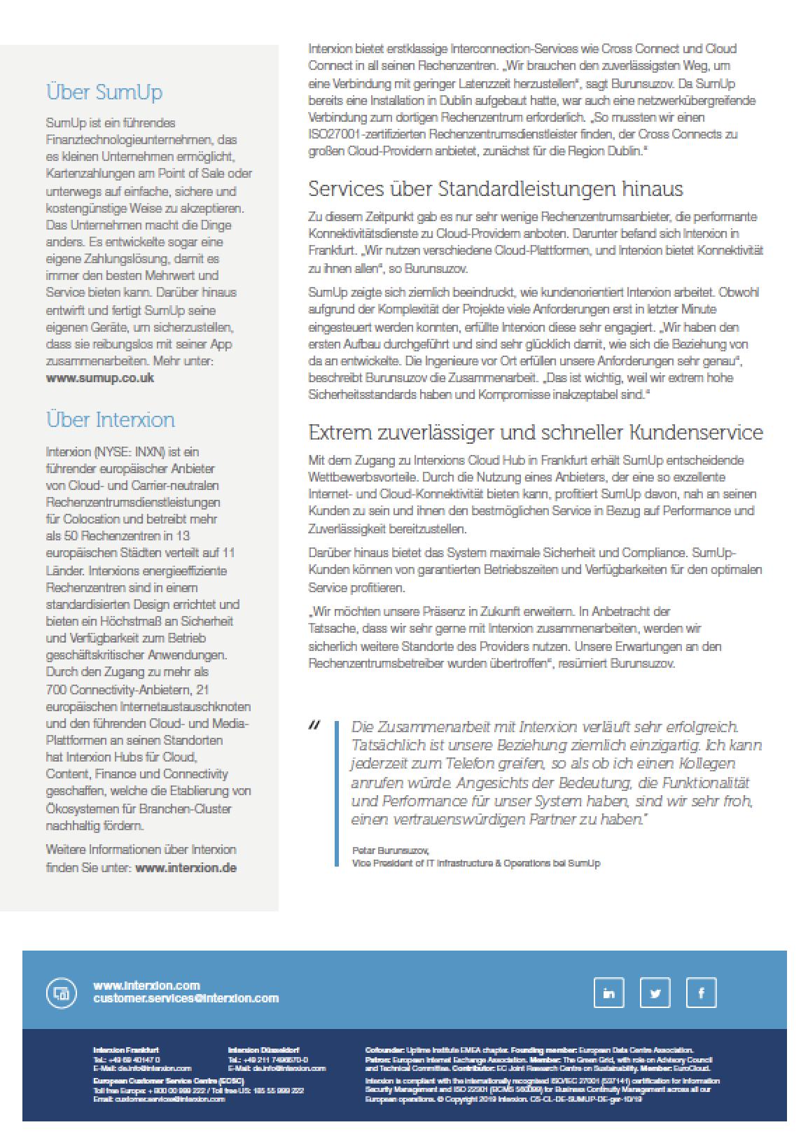 Referenzstory SumUp Fintech Konnektivität