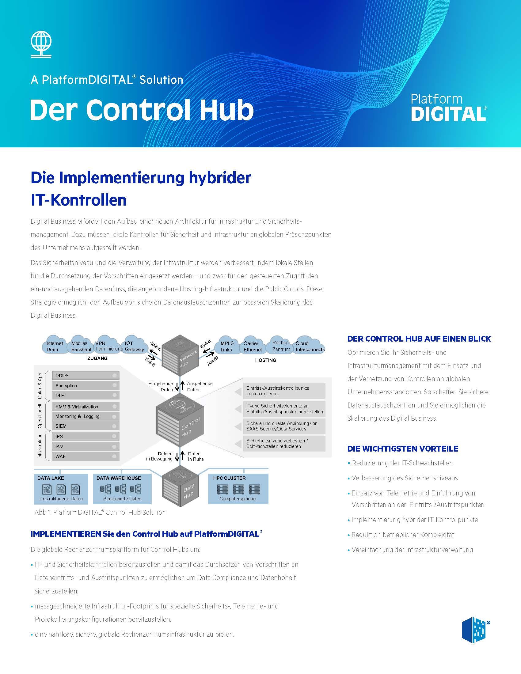 Control Hub Datenblatt Österreich