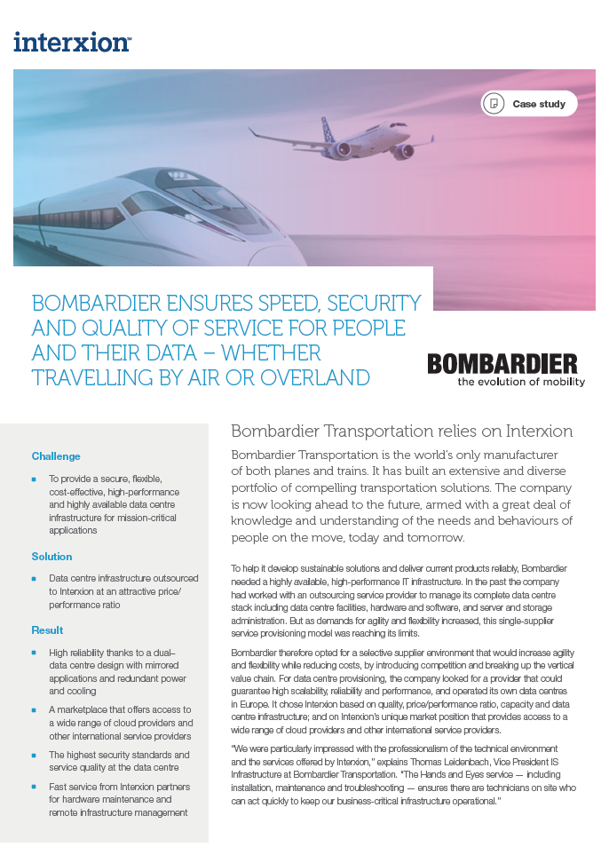 Bombardier Case Study