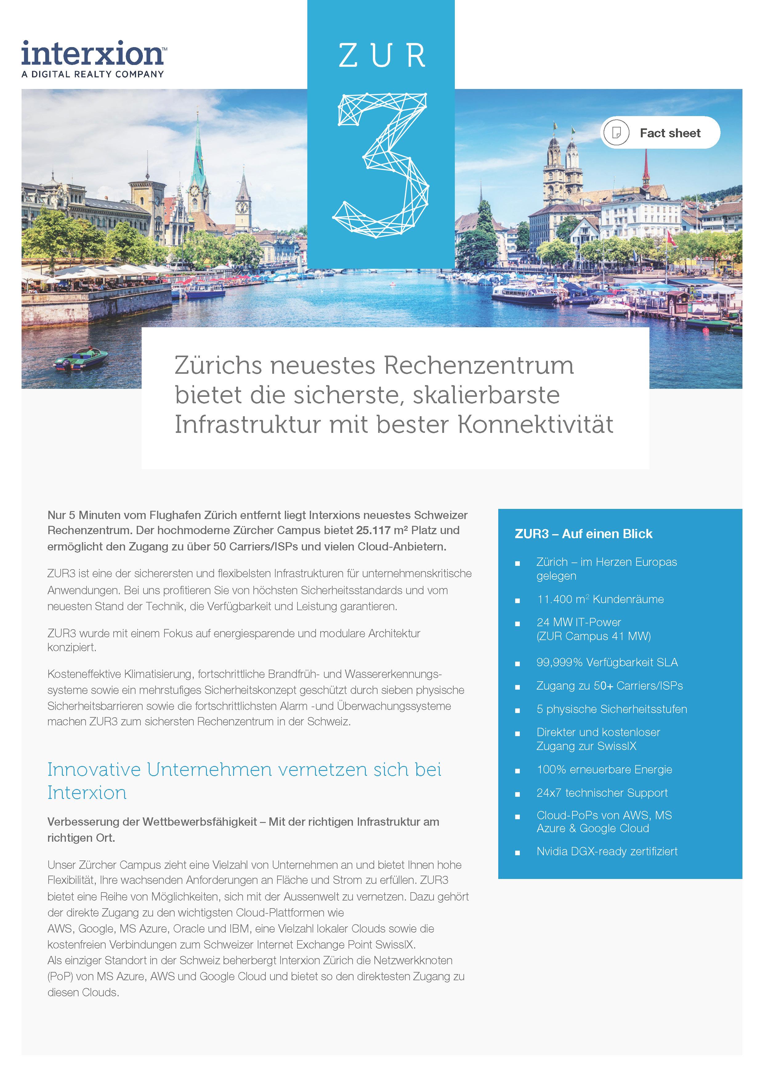 ZUR3 factsheet