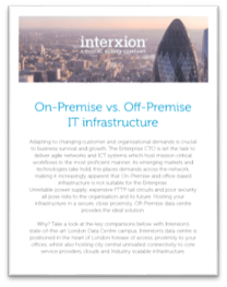 Interxion On-Premise Off-Premise