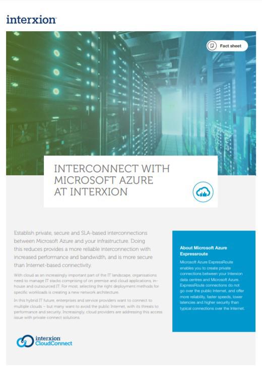 Microsoft expressroute datacenter