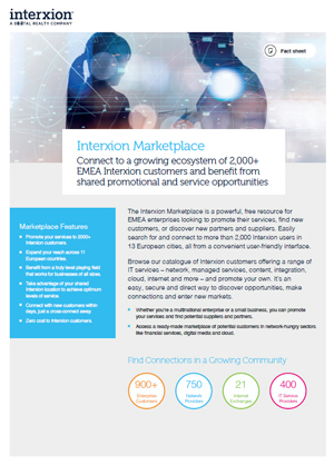 Interxion Marketplace Factsheet Cover