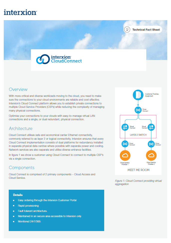Cloud Connect Fact Sheet